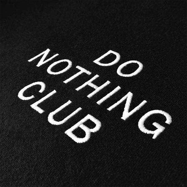 Do Nothing Club Hoodie Black