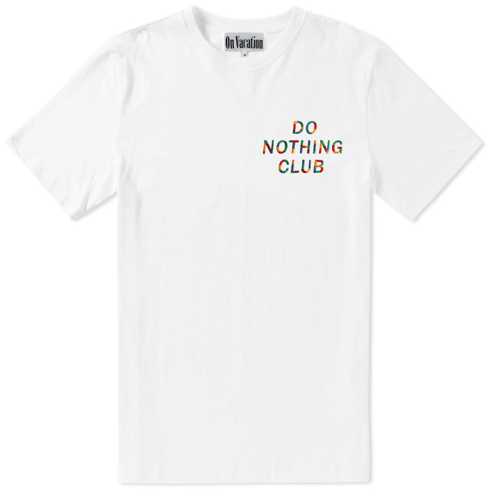 Do Nothing Club T-Shirt Rainbow