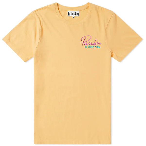 Paradise Is Very Nice T-Shirt Peach
