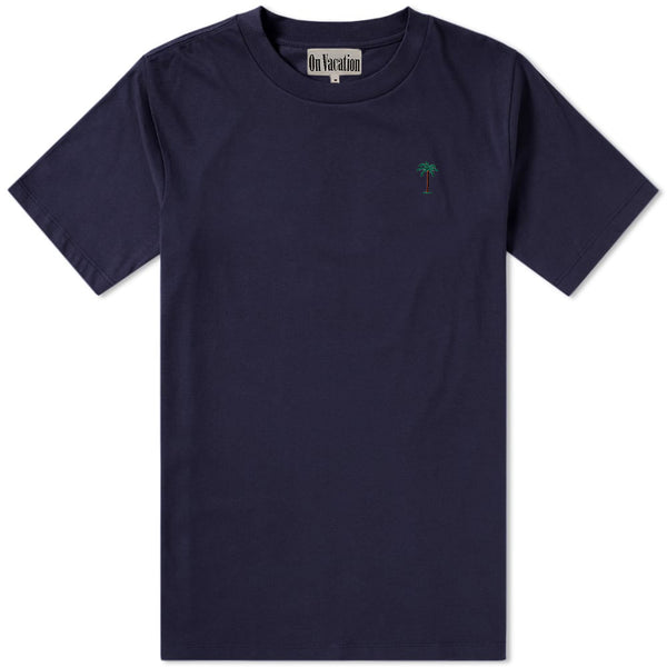 On Vacation Palms T-Shirt Navy