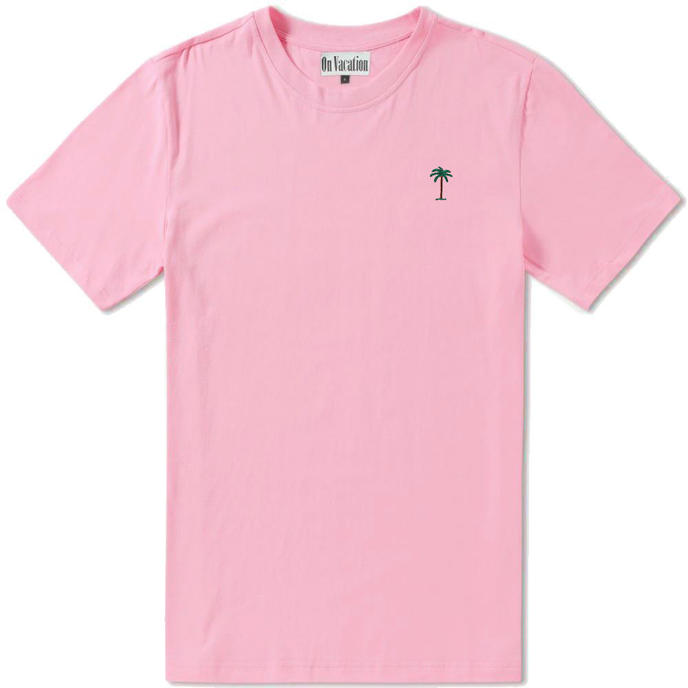 On Vacation Palms T-Shirt Light Pink