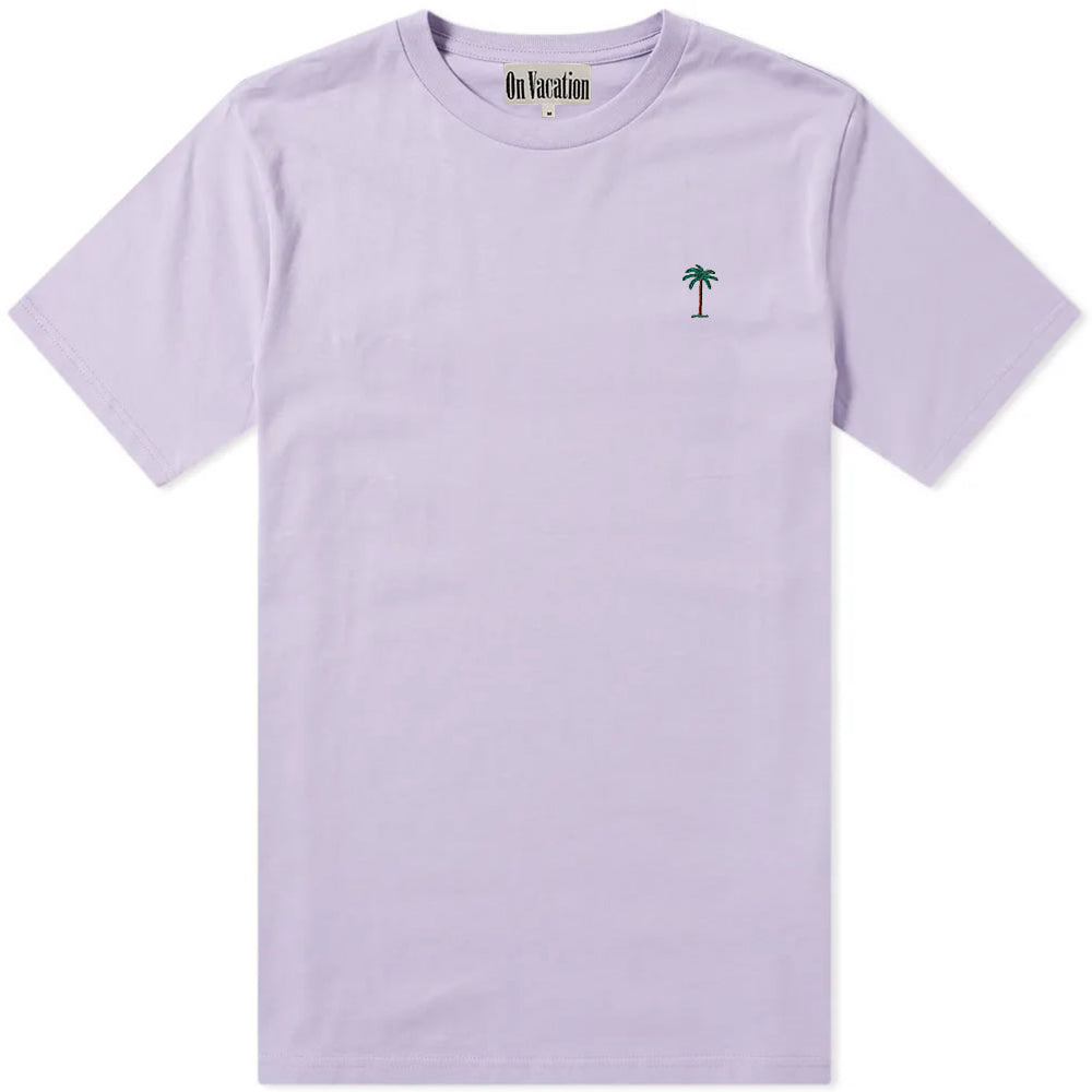 On Vacation Palms T-Shirt Light Purple
