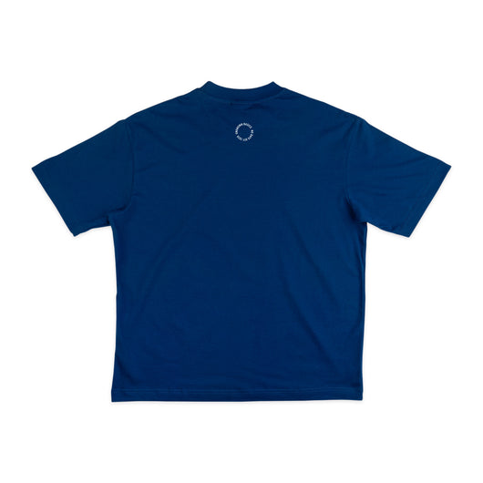 NO DAYS OFF Neck Shirt Blue