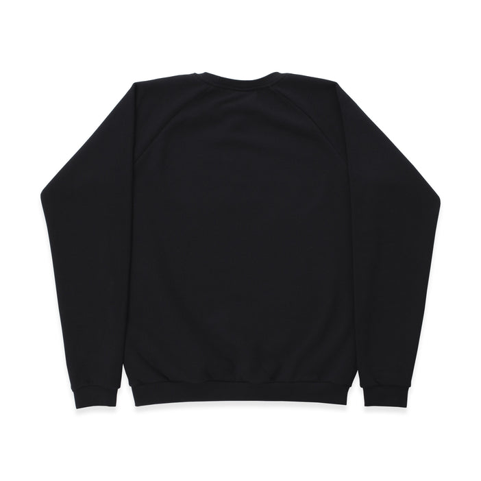 Basics Black Raglan