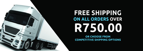Free Shipping on orders over R750.00