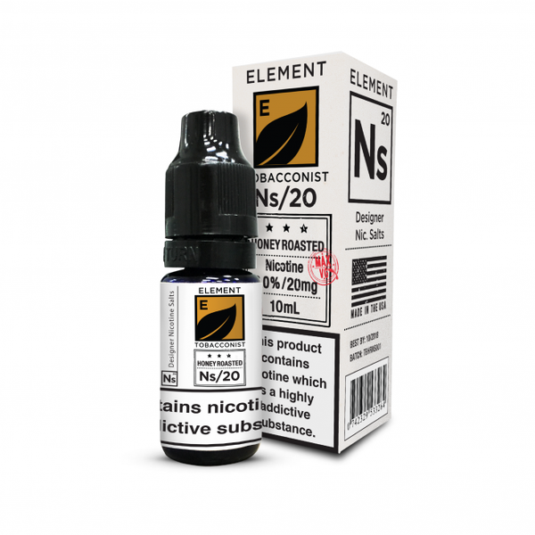 20ML Element Designer Nicotine Salts Honey Roasted Tobacco
