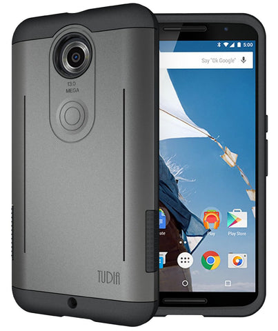 TUDIA Google Nexus 6 Case Rugged Dual Layer RYFT  with Kickstand Feature