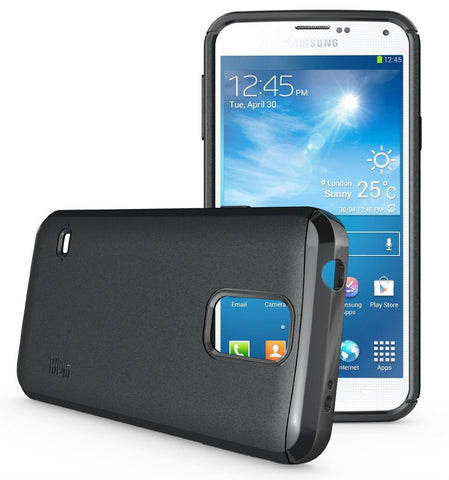 new product e9fa5 d9509 Tudia Samsung Galaxy S 5 Case LITE Wireless Charging Battery Cover Case