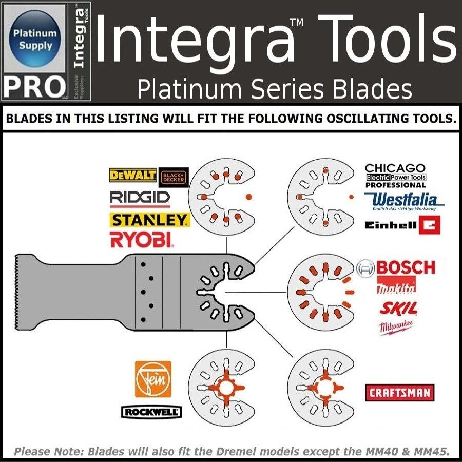 Integra Tools FW02; 22PC Oscillating Multi Tool Saw Blades fits FEIN MULTIMASTER