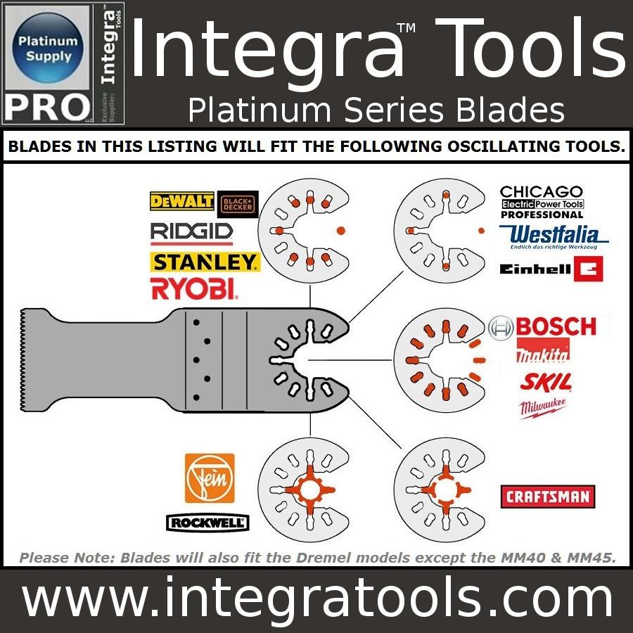 10 Bi-metal Oscillating Multitool Quick Release Saw Blade Fit Fein Multimaster Porter Cable Black and Decker Genesis Bosch Dremel Craftsman Bolt-on Nextec Ridgid Ryobi Makita Milwaukee Dewalt Rockwell Hyperlock Chicago Stainley Skil Multi Tool