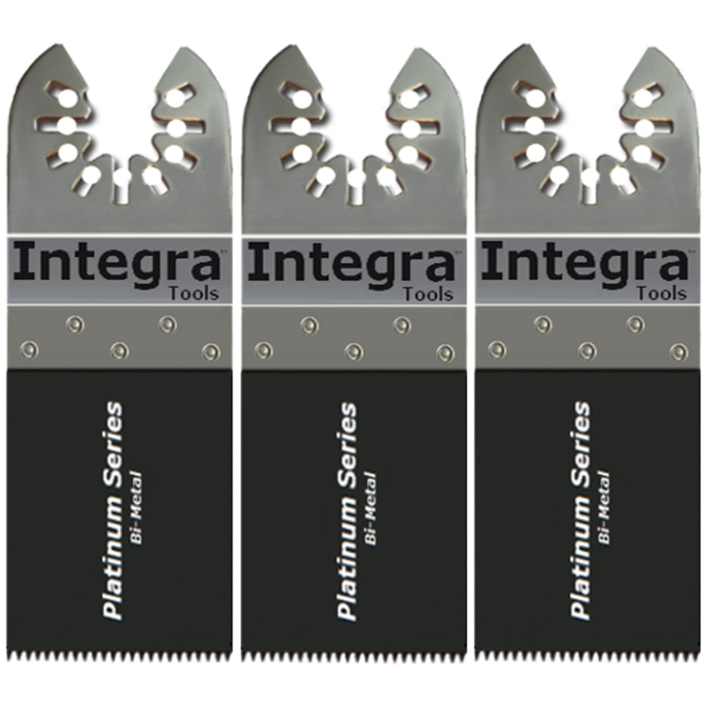 "Integra® Tools Platinum Blades 1-3/8"" Bi-Metal Wood/Plastic/Metal Oscillating Multitool Saw Blade (3-Item)"
