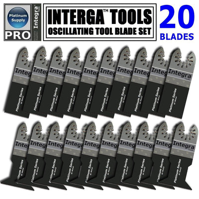 SS01; 20PC Bi-Metal Mix Oscillating Saw Blade fits DEWALT FEIN RYOBI MULTIMASTER