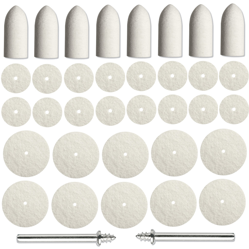 88PC Felt Polishing Pad Buff Clean Wheels & Point Mandrel Buff for Rotary Dremel - Platinum Supply PRO L.L.C.
