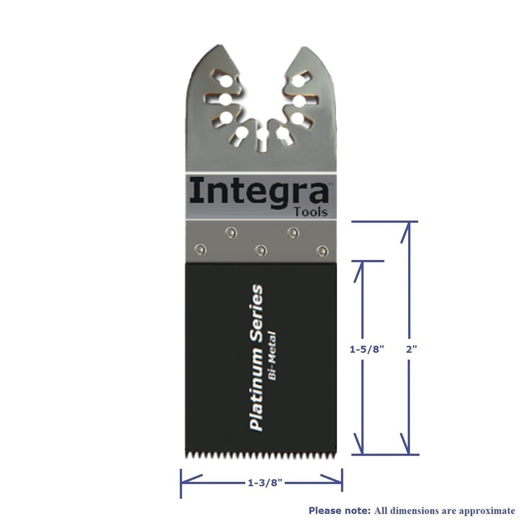 "Integra® Tools Platinum Blades Mix 1-3/8"" and 1-3/4"" Bi-Metal Wood/Plastic/Metal Oscillating Multitool Saw Blade (50-item)"