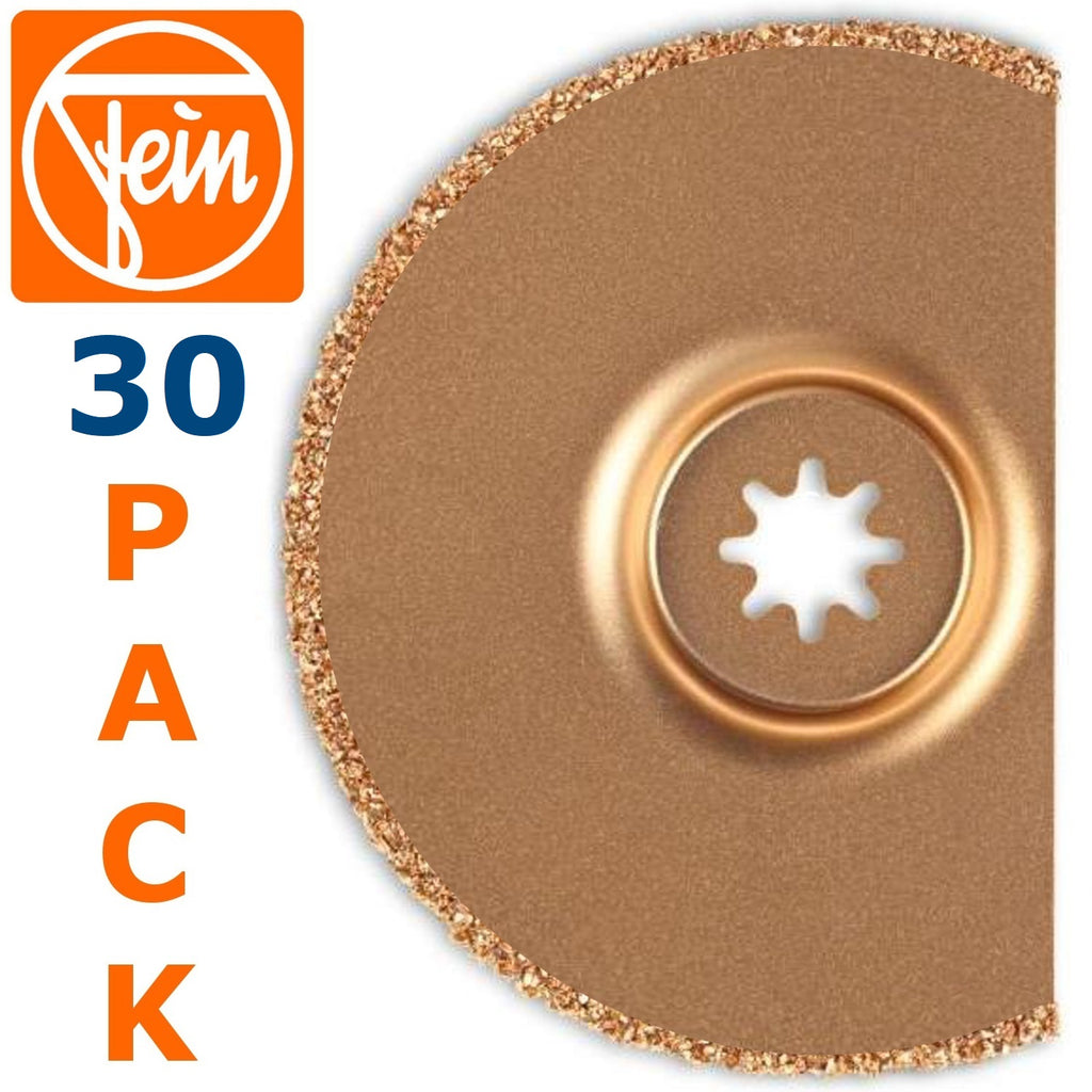 "FEIN Multimount 3-1/2"" Semi-Circular Round Carbide Rasp Tile Grout Removal Oscillating Multitool Saw Blade (30-item)"