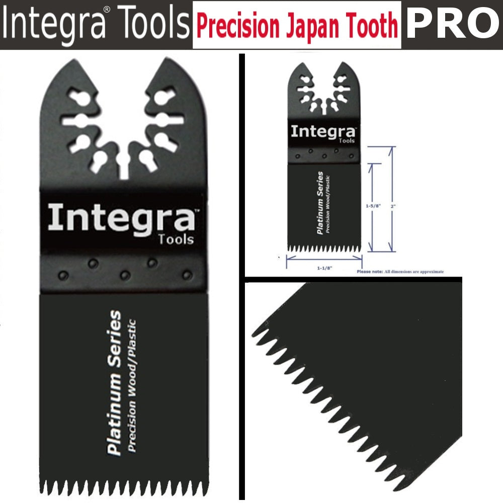 INTEGRA 20pc Mix Saw Wood Bi-metal Precision Pack Oscillating Multitool Quick Release Saw Blade Fit Fein Multimaster Porter Cable Black & Decker Bosch