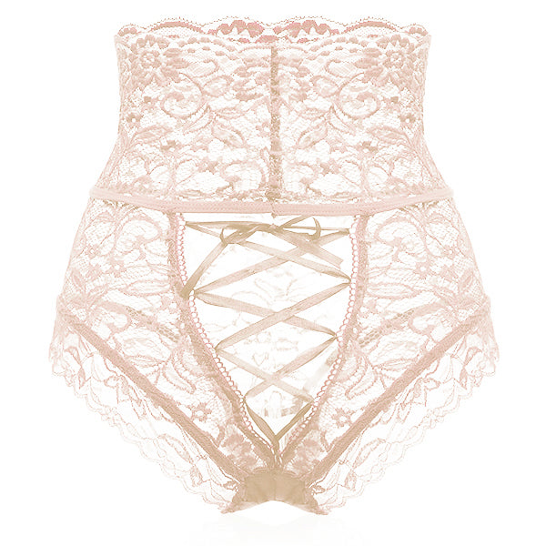 Sexy Hollow Lace High Waisted Tied Rope Panties