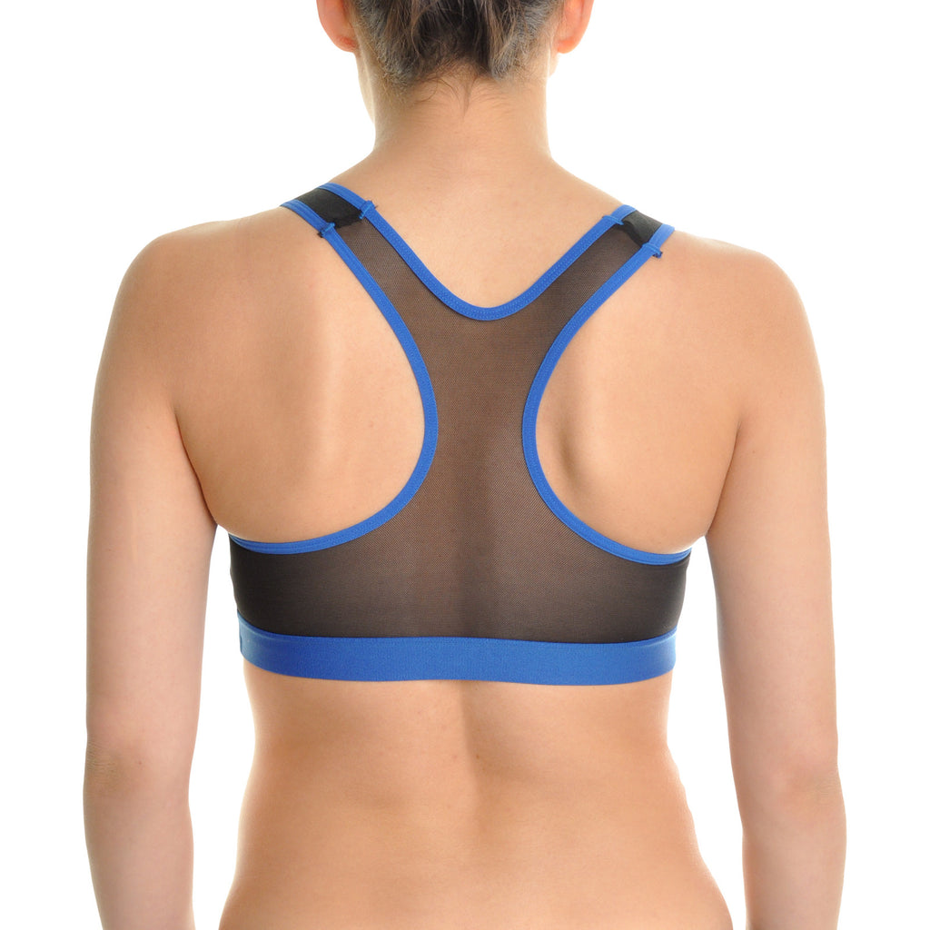 Angelina Wired Cotton Sports Bra with Mesh Racerback (3-Pack)