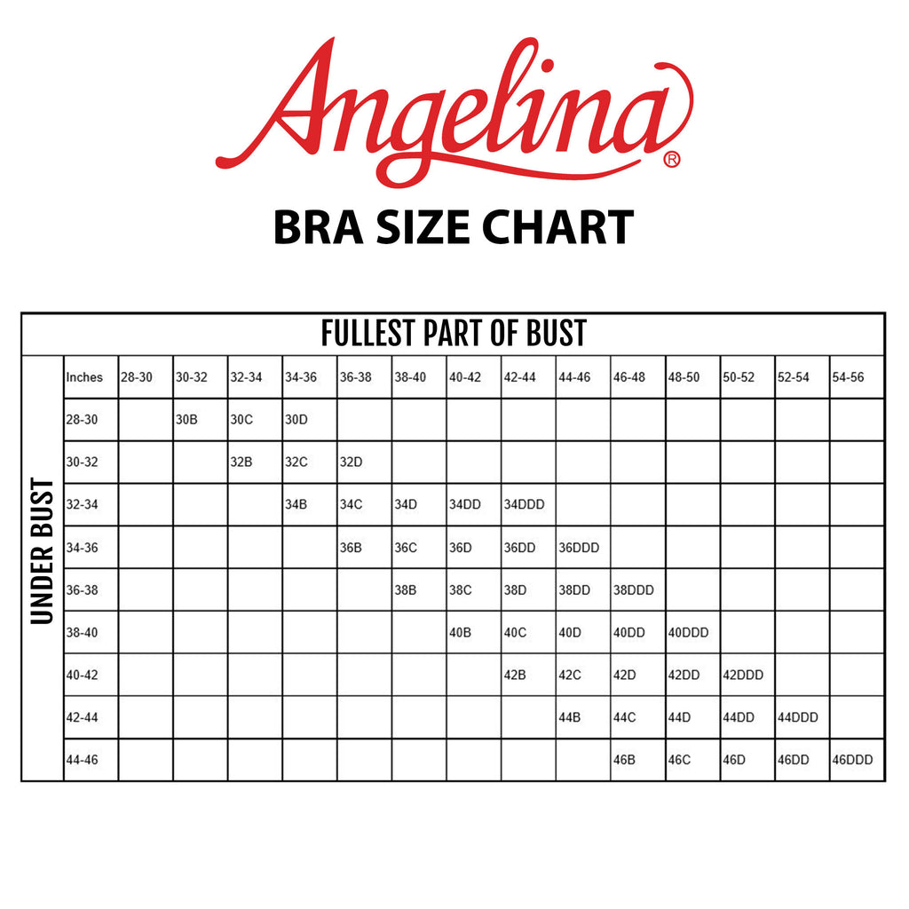 Angelina Wired Convertible Bras with Lace Accent Detail (6-Pack)