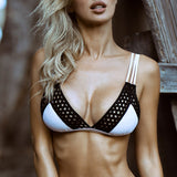 Bikinx Triangle bikini set Mesh hollow out swimsuit push up swimwear female Sexy bathing suit women bathers Micro bikini 2018