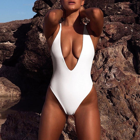Bikinx High cut buckle bikini 2019 thong bathers Extreme sexy swimsuit one piece bodysuit Plus size swimwear women monokini new