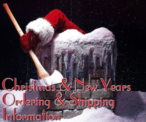 Christmas & New Years Ordering & Shipping Information