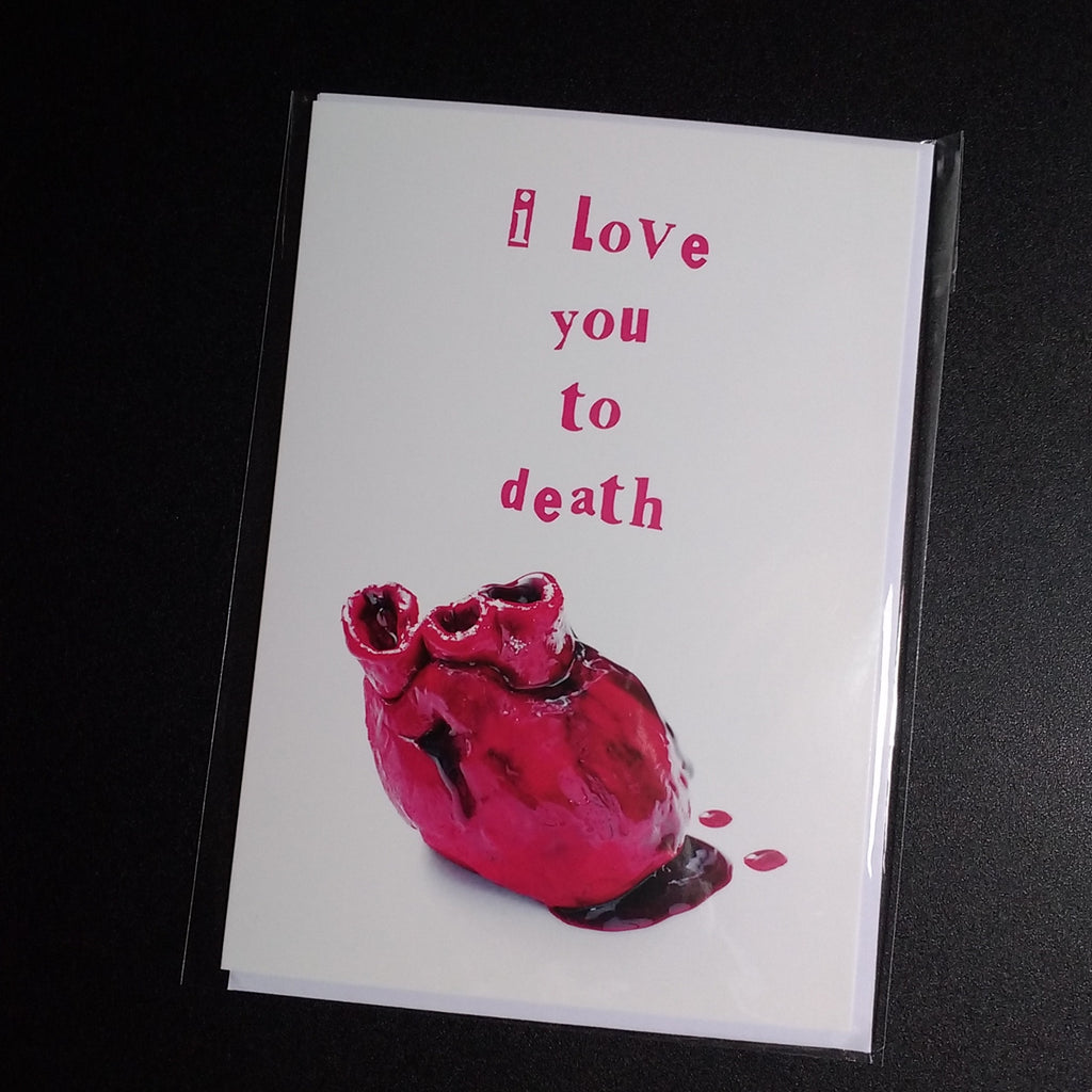 I love you to death a5 greeting card anniversary valentine love i love you to death a5 greeting card anniversary valentine love m4hsunfo