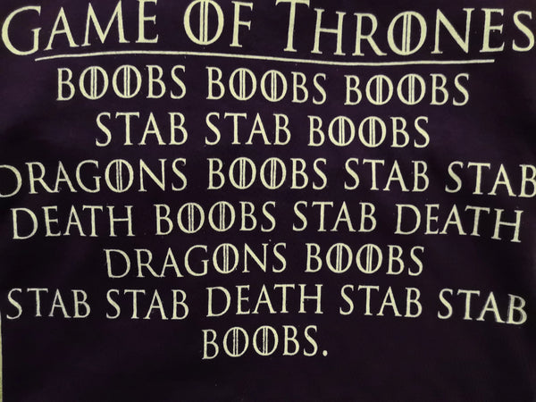 Game of Thrones Boobs Boobs, Stab Stab - S - Purple Standard T-Shirt