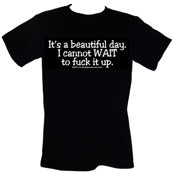 It's A Beautiful Day. I Cannot WAIT To Fuck It Up | T-Shirt, Vest, Hoody