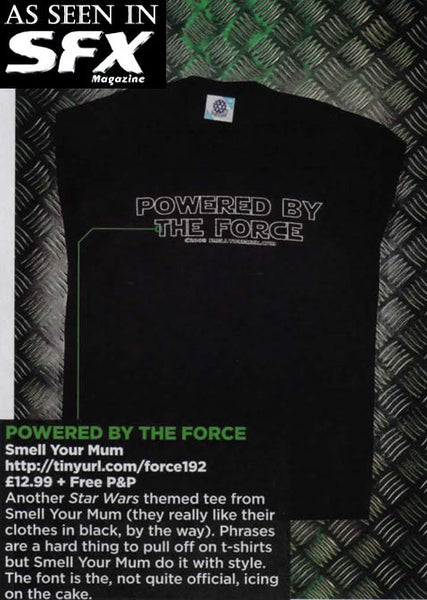 Powered By The Force (Star Wars/Force Awakens/Rogue One/Last Jedi) | T-Shirt, Vest, Hoody