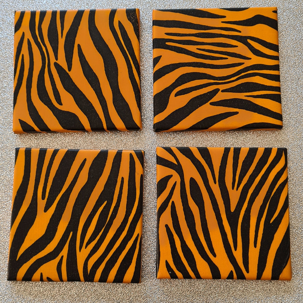 Tiger Design Ceramic Coasters