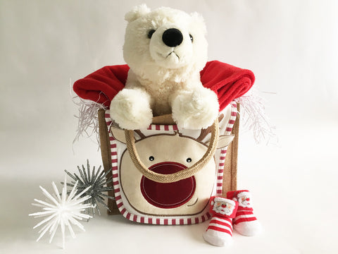 Christmas bear Jute bag