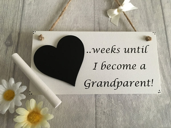 Countdown plaque for a grandparent