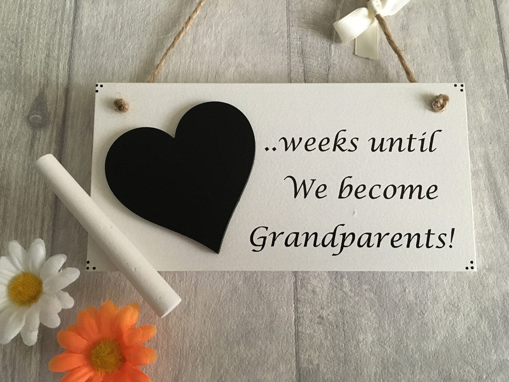 Countdown plaque for grandparents