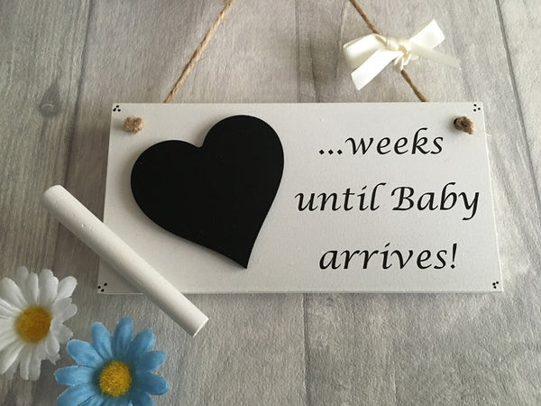 Chalkboard weekly countdown hanging plaque