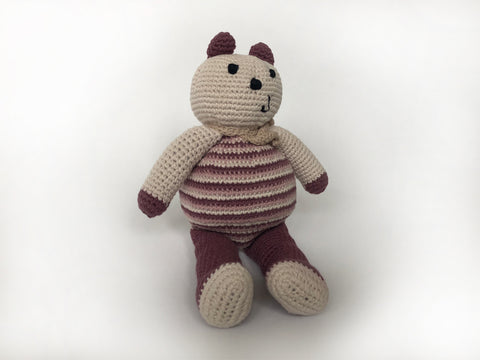 Fair Trade organic purple cotton teddy
