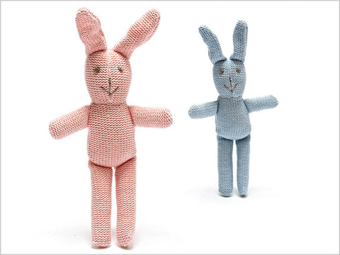 Knitted organic cotton bunny