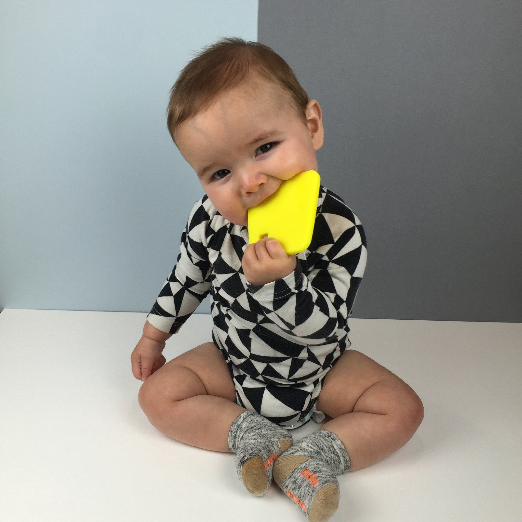 Neon Yellow Circle Teether
