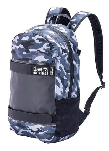 187 Killer Bags Standard Issue Backpack - Charcoal Camo - Momma Trucker Skates
