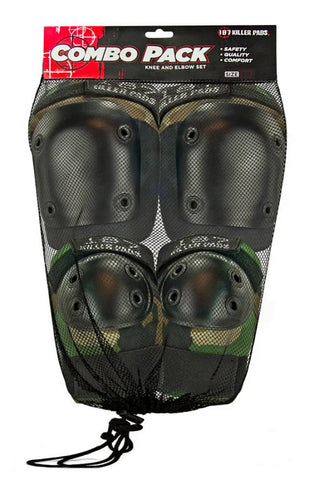 187 Killer Pads Adult Knee & Elbow Sets Camouflage - Momma Trucker Skates