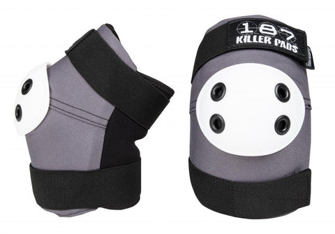 187 Killer Elbow Pads Grey - Momma Trucker Skates