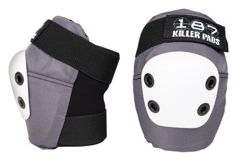 187 Killer Slim Elbow Pads Grey - Momma Trucker Skates