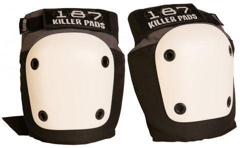 187 Killer Fly Knee Pads Grey - Momma Trucker Skates