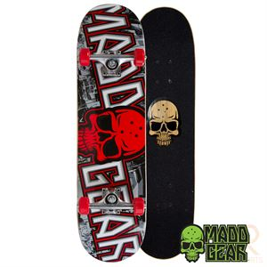 Madd Gear Pro Series Complete Skateboard - Grittee Red - Momma Trucker Skates
