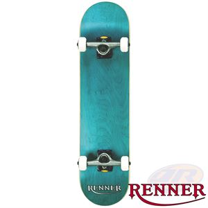 Renner Pro Series Complete Skateboard 7 Ply, Virus Trucks, Abec 9 - Blue - Momma Trucker Skates