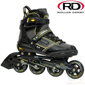 Roller derby Q 60 Inline Skates Black & Yellow - Momma Trucker Skates