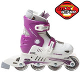 Xcess MX S780 Adjustable In-Line Skates Purple & White - Momma Trucker Skates