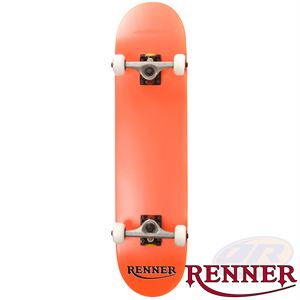 Renner Pro Series Complete Skateboard 7 Ply, Virus Trucks, Abec 9 - Orange - Momma Trucker Skates