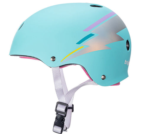 Triple 8 Certified Sweatsaver Helmet Teal Hologram - Momma Trucker Skates