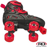 Roller Derby Trac Star Black & Red Adjustable Roller Skate - Momma Trucker Skates